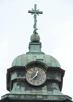 Die Turmspitze der Kirche des Klosters Medingen
