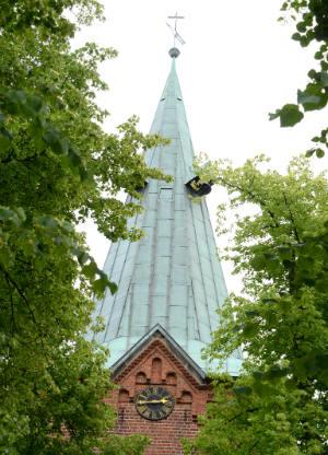 Die Kirchturmuhr von Bad Bevensen